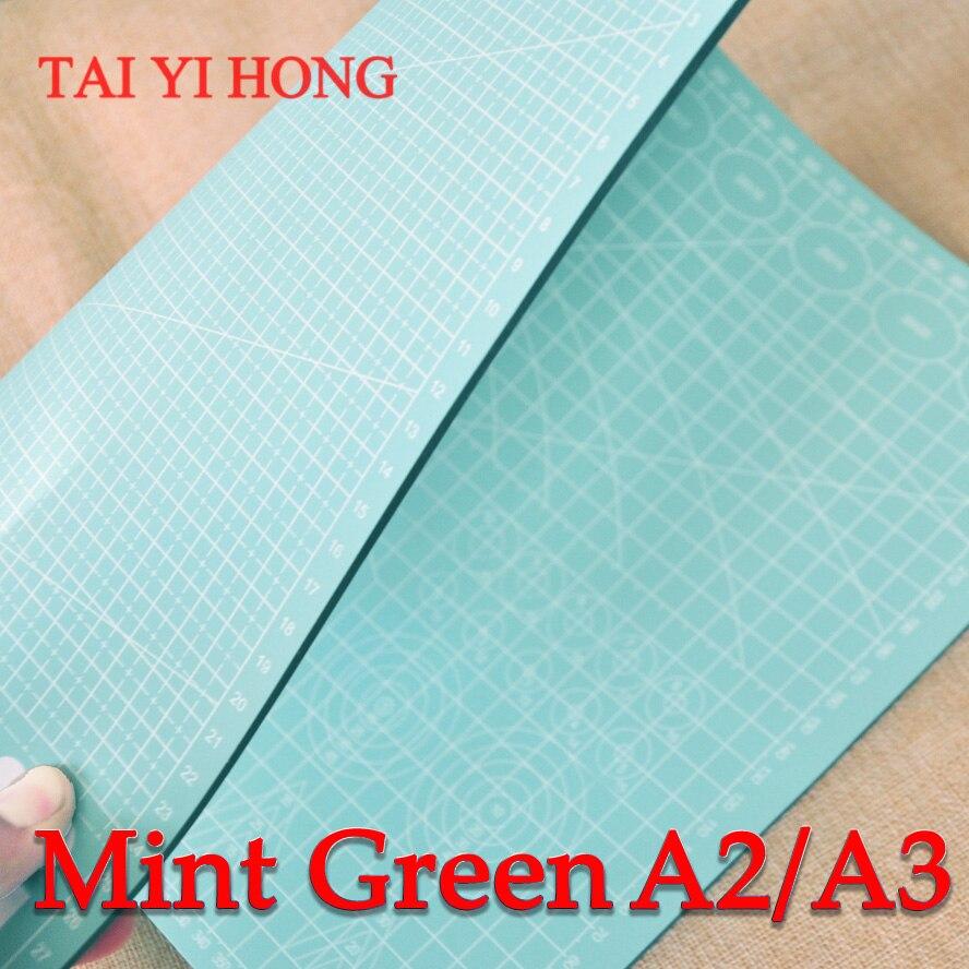 A3 hortelã verde pvc tapete de corte auto cura esteira corte retalhos ferramentas artesanato placa corte esteiras para estofamento