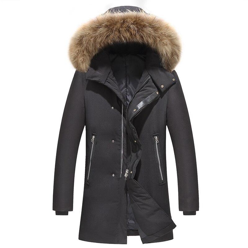 90% duvet de canard vestes manteaux hommes doudoune marque vêtements veste hiver décontracté épaississement Parkas hommes fermetures à glissière canard doudoune 23-in Doudounes from Vêtements homme    1
