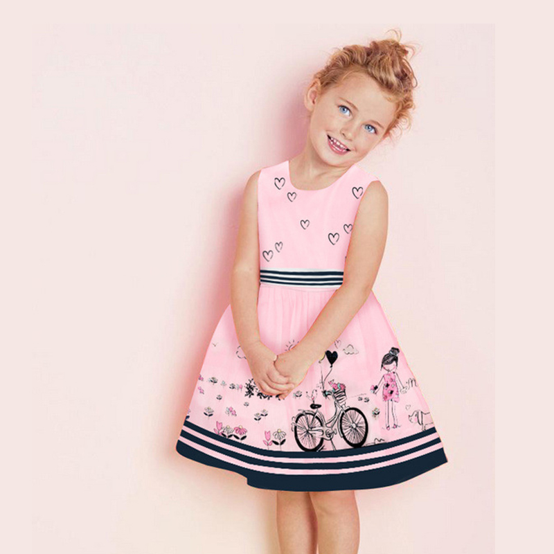 Подробнее о Girl Dress Princess Floral Pattern Children Dress Clothes Girls Dresses Summer 2016 Brand Kids Dresses for Girls Costumes wl monsoon girls dress 2016 brand kids clothes girls costumes princess dress carretto pattern baby girl dresses children