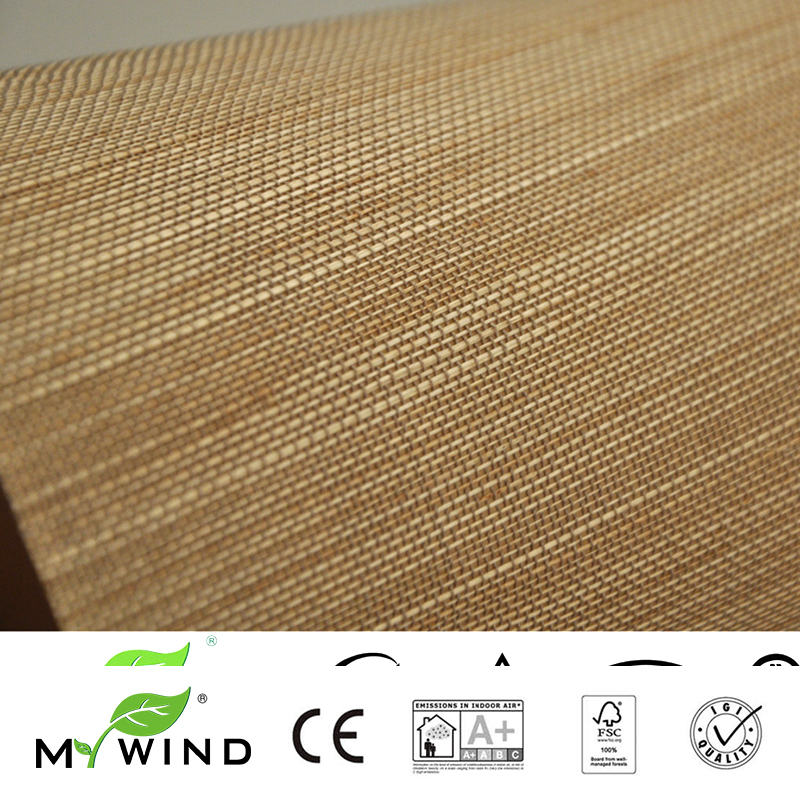 Luxury Natural Material Innocuity Paper Weave Design Wallpaper In Roll Decor 2019 MY WIND ABACA Grasscloth Wallpapers in Wallpapers from Home Improvement