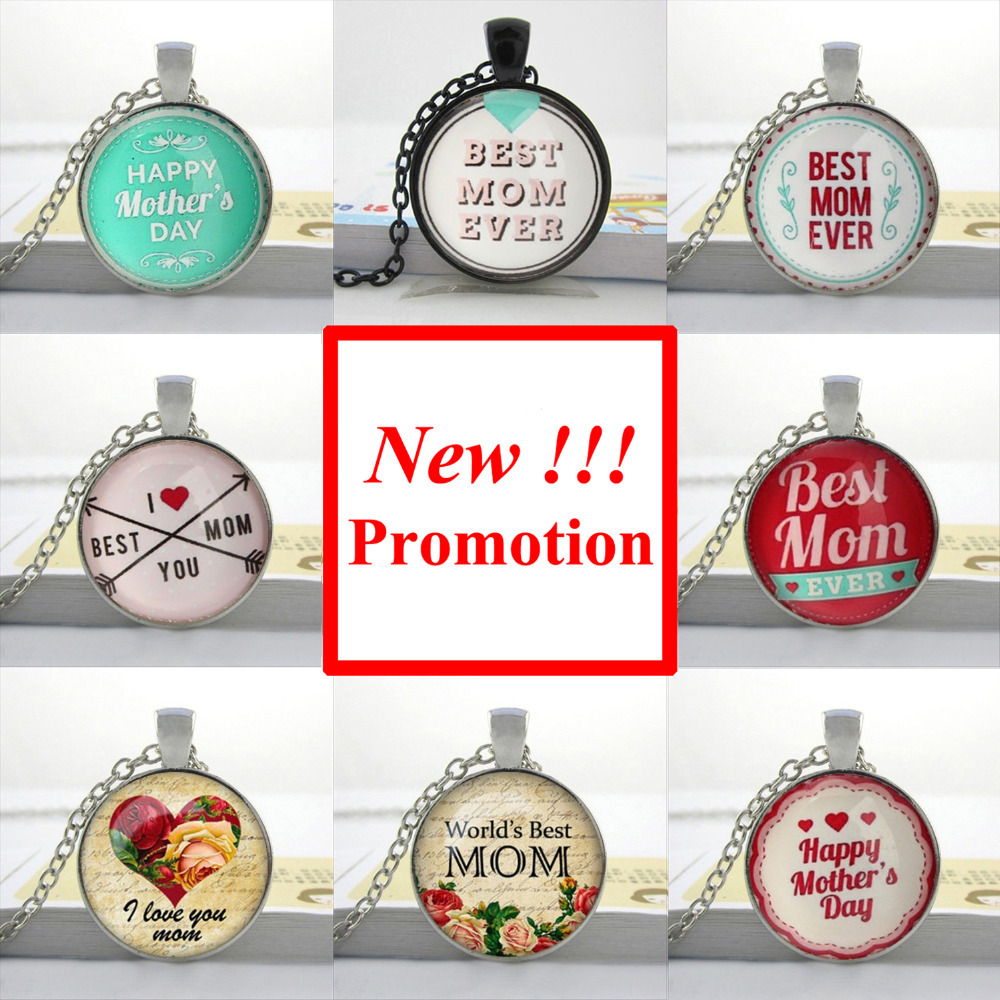 2017 New Fashion Glass Necklace Mother's Day Necklace Love Mom Jewelry Gifts for mom Glass Picture Pendant image