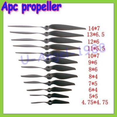 10pcs/lot Apc propeller knife horse paddle(14X7 13X6.5 12X6 11X5.5 10X7 9X6 8X6 8X4 7X5 6X4 for choose) Wholesale
