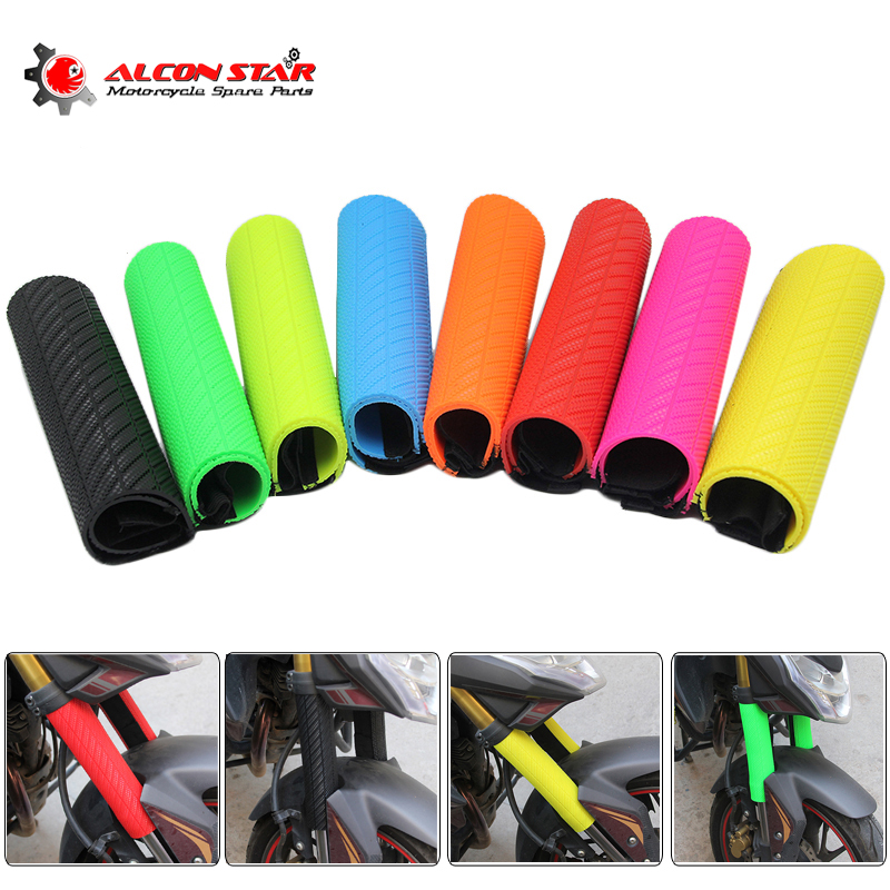 Alconstar-Rubber Front Shock Absorber Fork Suspension Protector Guard Wrap Cover For Kawasaki KTM CRF YZF KLX Dirt Bike ATV Quad 27cm rear shock absorber suspension protector protection cover for cr ttr 50 80 110 pit dirt bike motorcycle atv quad motocross