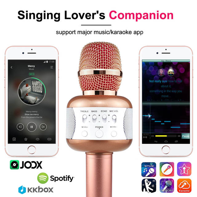 d85c0a610 Online Shop Wireless Karaoke Microphone E106 Portable Bluetooth Speaker  Mikrofon with Disco Light Phone Holder KTV Mic Music Karaoke Device |  Aliexpress ...