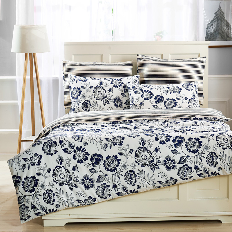 ikea 4pcs bedding set duvet cover fitted sheetflat sheet with floral stripes squares stars in bedding sets from home
