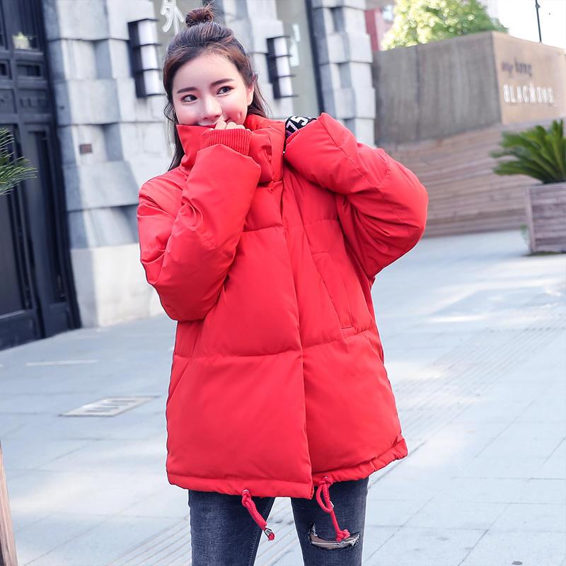 Autumn Winter Jacket Women Coat   Parka   Casual Casaco Feminino Warm Thicken Jacket Coat Outerwear Oversized Short Winter Coat Q701