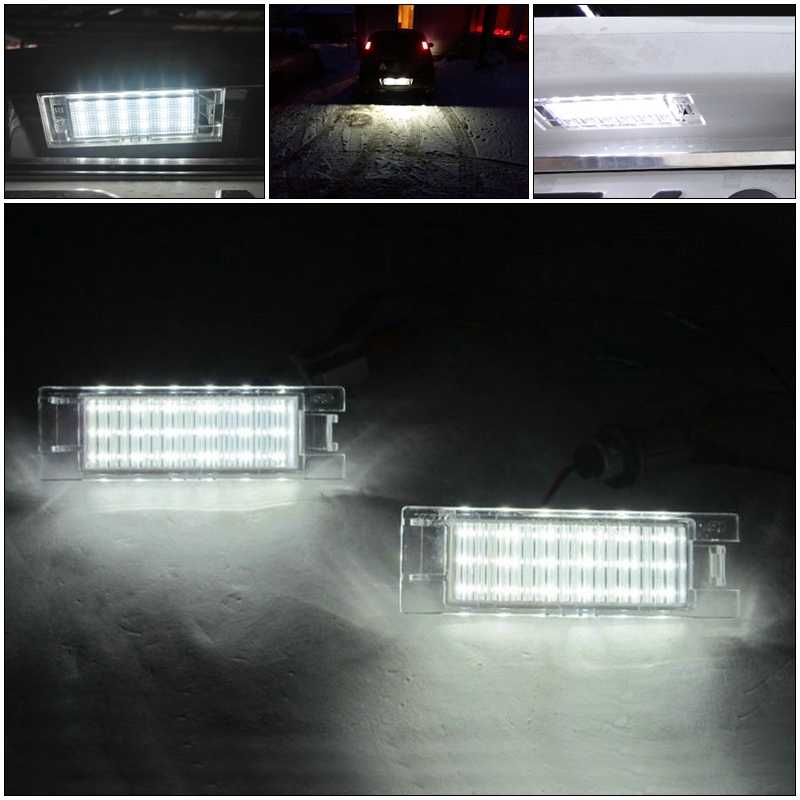 1 Paio Adatto per C//hevrolet Chevy C//ruze Camaro SMD3528 Luci per Targa per Auto a LED Luci per Targa a LED Bianche Kit lampadine Canbus 12V