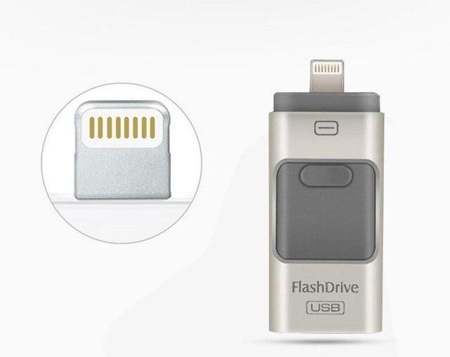 64GB i-Flash Driver usb flash drive HD Pendrive Lightning data for iPhone/iPad/iPod, usb interface Pen Drive for PC/MAC