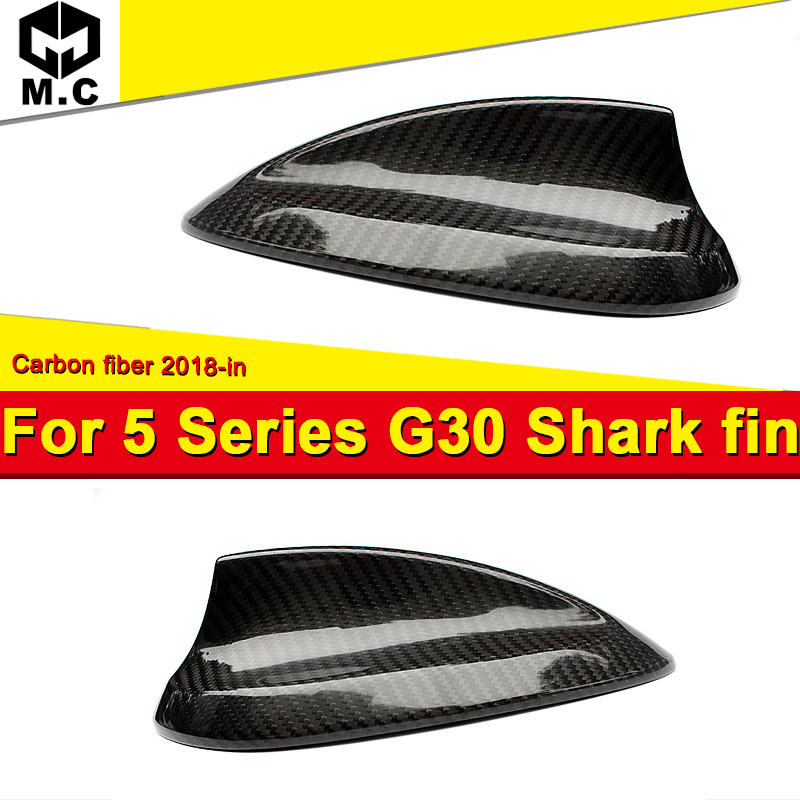 For 5-Series <font><b>G30</b></font> Car Roof Antenna Shark Fin Carbon Fiber Car Style Accessories Antenna Cover A-Style <font><b>G30</b></font> <font><b>520i</b></font> 525i 530i 2018-in image