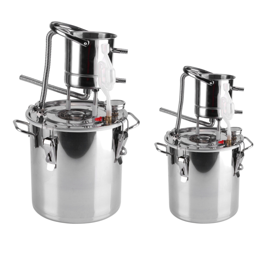 10L 20L Alcohol Stainless Distiller Home Brew Kit Moonshine Wine Making Boiler Home Wine Brewing Device