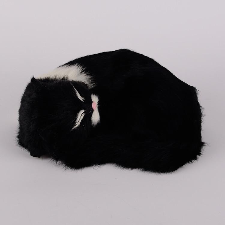 new simulation black cat lifelike white mouth sleeping cat model gift 25x20x11cm new simulation cat sleeping cat lifelike white cat model gift about 19x8x14cm