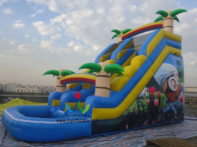 8X4M Factory Direct Sale Inflatable Water slide With Swimming Pool environmentally friendly pvc inflatable shell water floating row of a variety of swimming pearl shell swimming ring