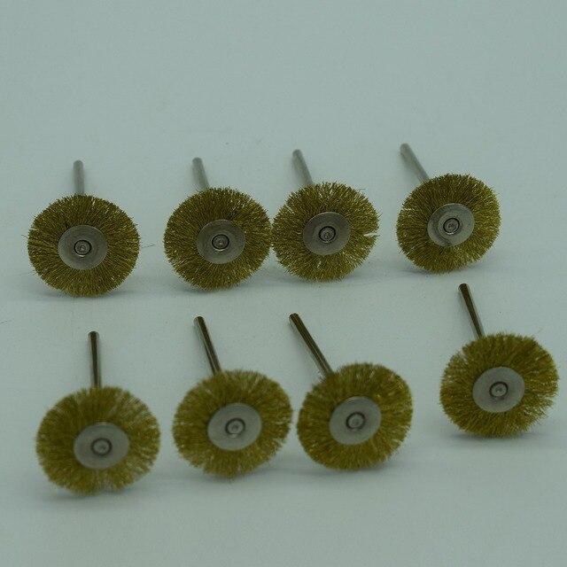 50pcs 2.35mm Brass copper Wire Wheel Brush Cleaner Polishing Dremel ...