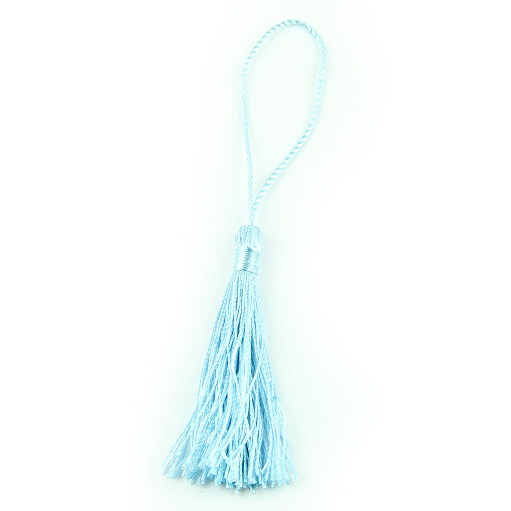 Fashion Aquamarine 100pcs/lot Small ears of diy Chinese knot accessories diy manual accessories material technology tassel