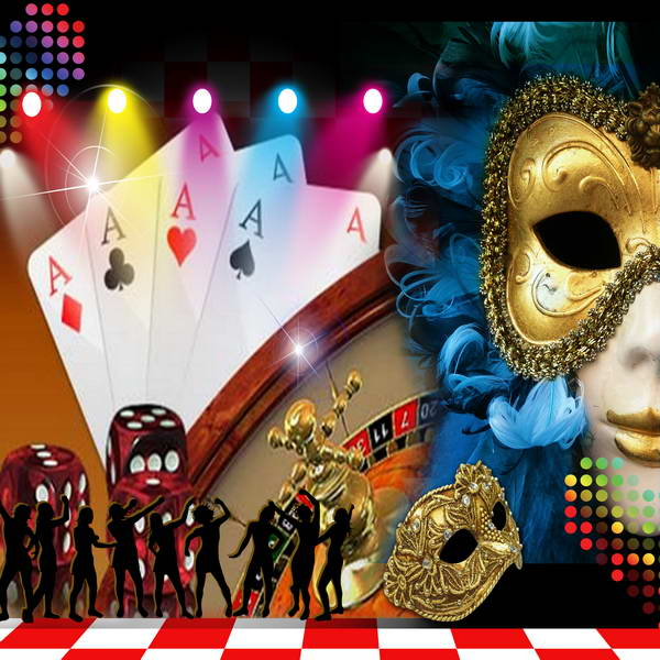 poker casino night masquerade mask colorful led Light theme backdrops Vinyl cloth  Computer print party Background