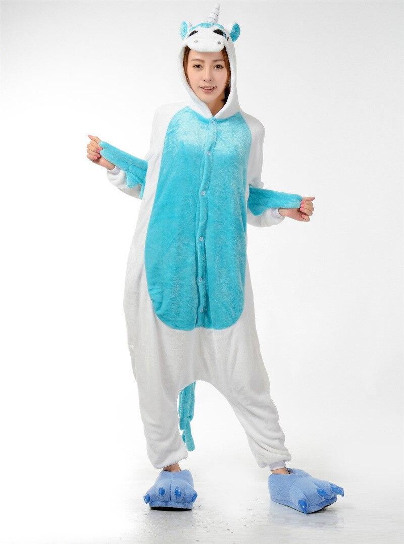 Gratë për burra Kigurumi Anime Pizhama Unicorn Hoodie Pajamas - Kostumet - Foto 2
