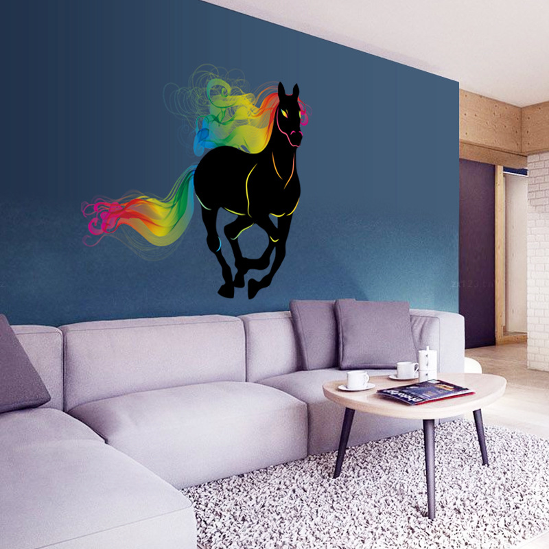 Aliexpress.com : Buy Creative Wall Stickers Bedroom Living Room Colorful  Horse Wall Stickers Corridor Wallpaper Office Decorative Stickers From  Reliable ... Part 62