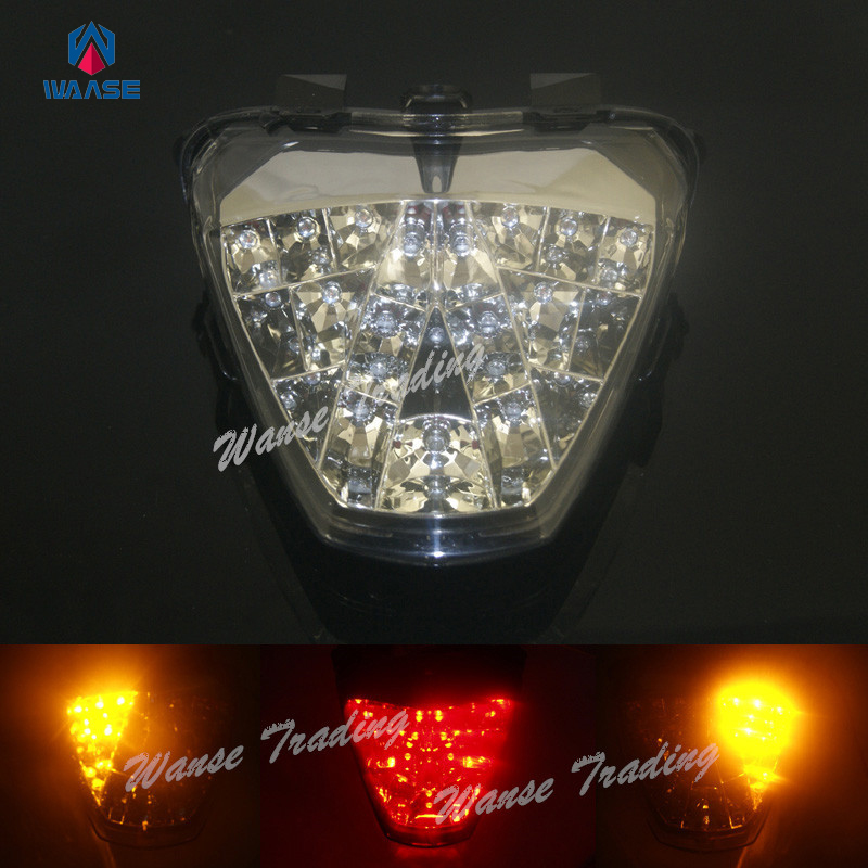 waase Tail Brake Turn Signals Integrated Led Light Lamp Clear For 2011 2012 2013 HONDA Fireblade CBR 250R CBR250R ABS Repsol motorcycle parts led tail brake light turn signals for honda cbr 600rr cbr1000rr rr fireblade smoke