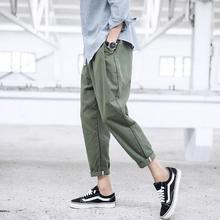 Мужская одежда Весна хлопковые брюки девять тонкие ретро Свободные ноги, галифе певиц