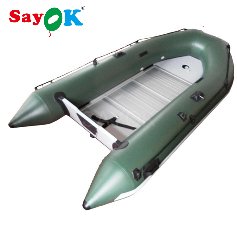 High Quality 3-4 Person Inflatable Rubber Boat, Inflatable Fishing Boat, PVC Inflatable Rowing Boat Foldable Rescue Yacht