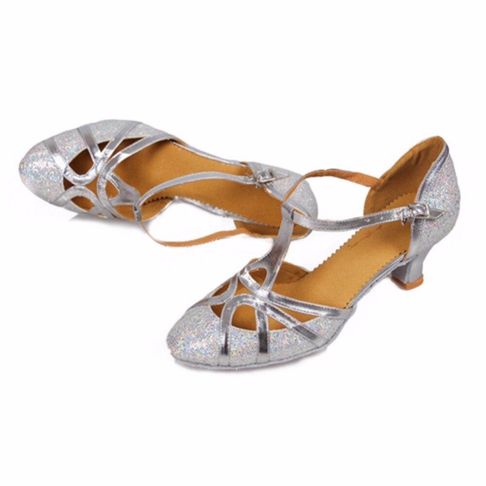 511 peta 5cm zlato srebrna svjetlucava Zapatos salsa Mujer plesna - Tenisice - Foto 4