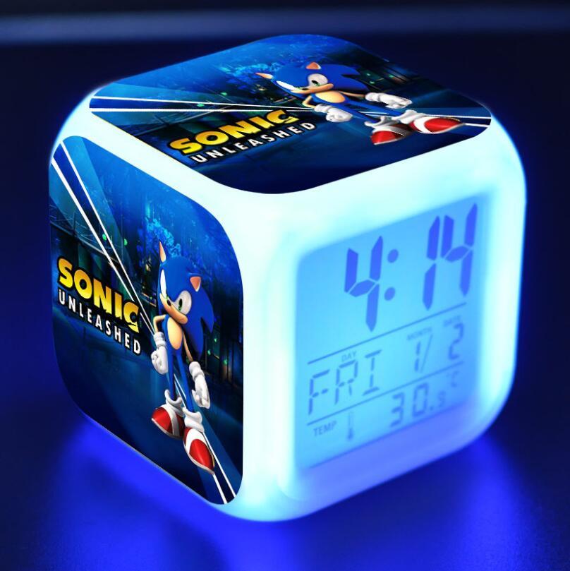 Sonic The Hedgehog LED Cube Alarm Clock 28