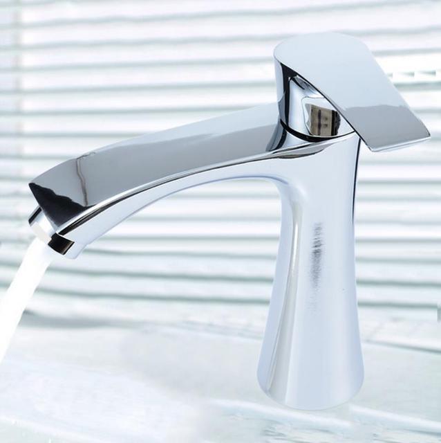 Mayitr G1 2 Bathroom Sink Faucet Drawing Waterfall Sink Tap Single