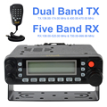 HYS TC-MAUV33 Walkie Talkies radio VHF&UHF dual band mobile radio with large screen display portable Two Way Radio