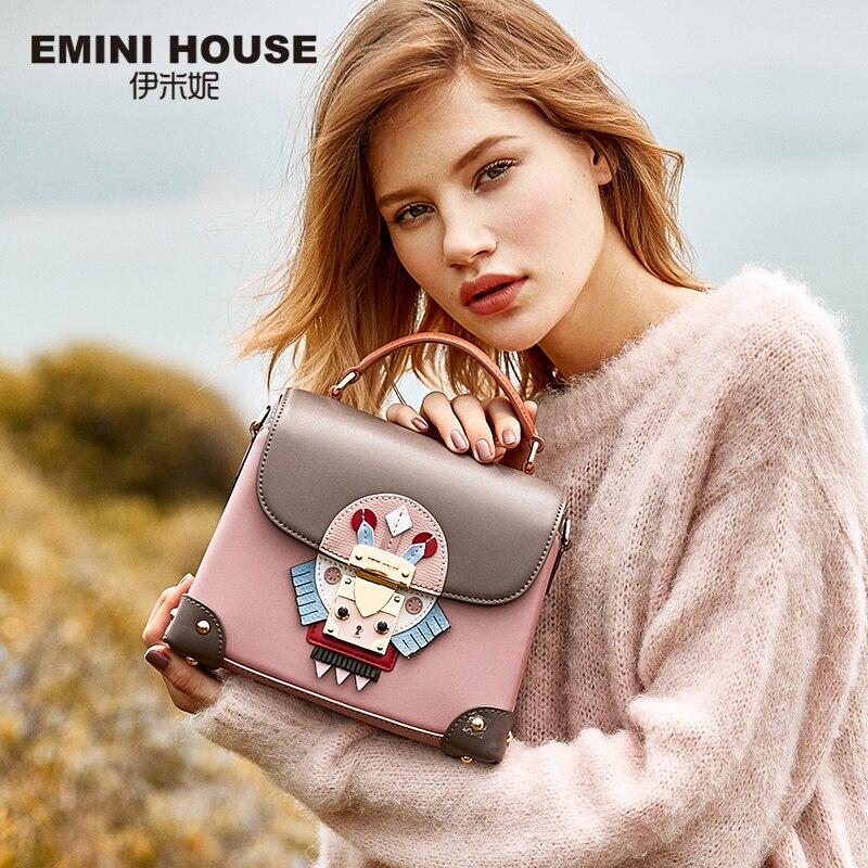EMINI HOUSE Indian Style Luxury Handbags Women Bags Designer Split Leather Crossbody Bags For Women Messenger