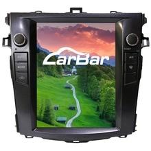 """10,"""" вертикальный огромный экран 1024*768 Android автомобильный DVD gps навигатор радио плеер для Toyota Corolla 2007-2012 четырехъядерный"""