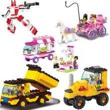Educational Toys for children Sluban Building Blocks toys Snack car for girl self-locking bricks Compatible with Lego
