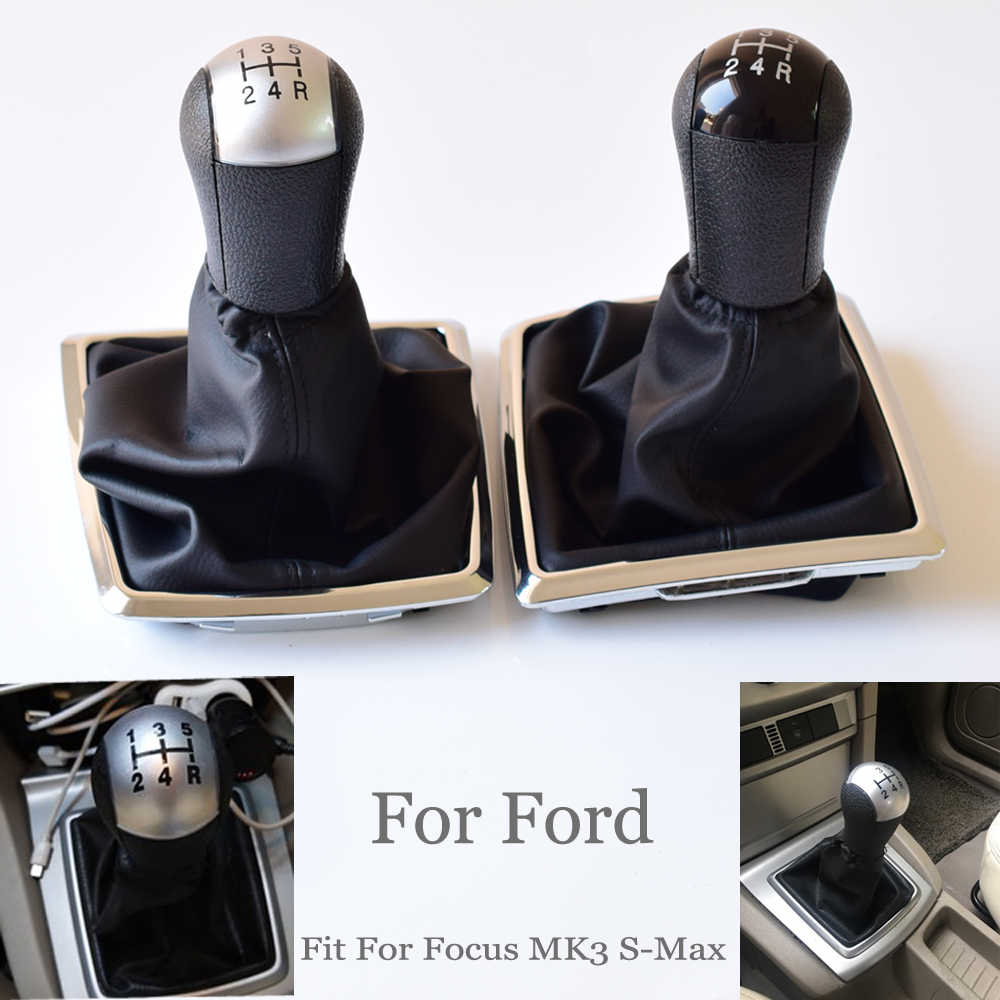Abs plastic 5 speed gear stick gearstick shift shifter knob complete sets for ford focus mondeo