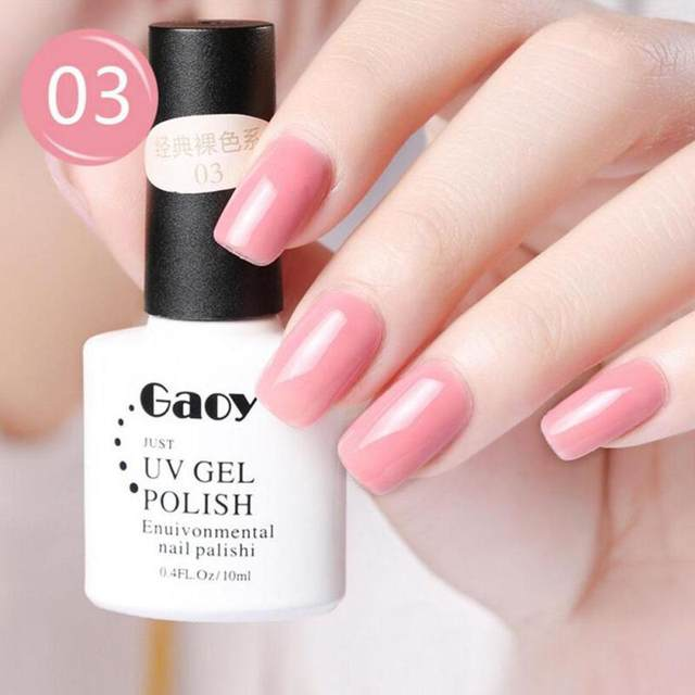 Online Shop 12 Pure Colors UV Gel Nail Polish Set Nail Art Colorful ...