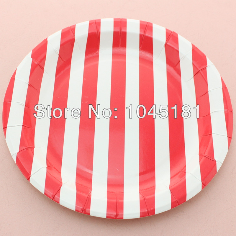ipalmay Free Shipping Popular Yellow//white 9 striped paper plates Party favors supplies round paper plates-in Disposable Party Tableware from Home u0026 Garden ...  sc 1 st  AliExpress.com : black and white chevron paper plates - pezcame.com
