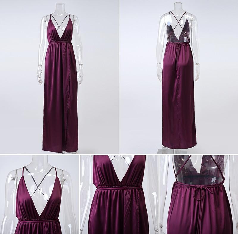 HTB1C 4kNVXXXXaVXXXXq6xXFXXX6 - Off Shoulder Sexy Deep V Neck Beach Style Women Dress Strap Backless Maxi Long Evening Party Dresses JKP028