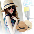 Mulheres das Meninas Das Senhoras Chapéu de Palha Grande Grande Aba do chapéu de Sol Cap Praia Verão Acessórios