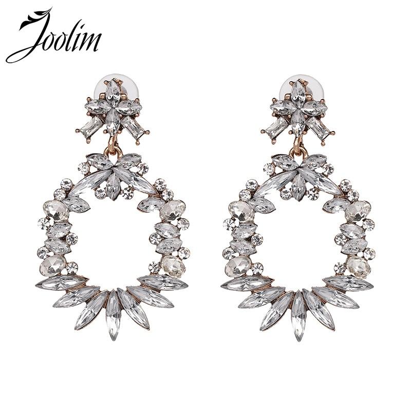 Joolim Clear Crystal Hoop Earring Classic European