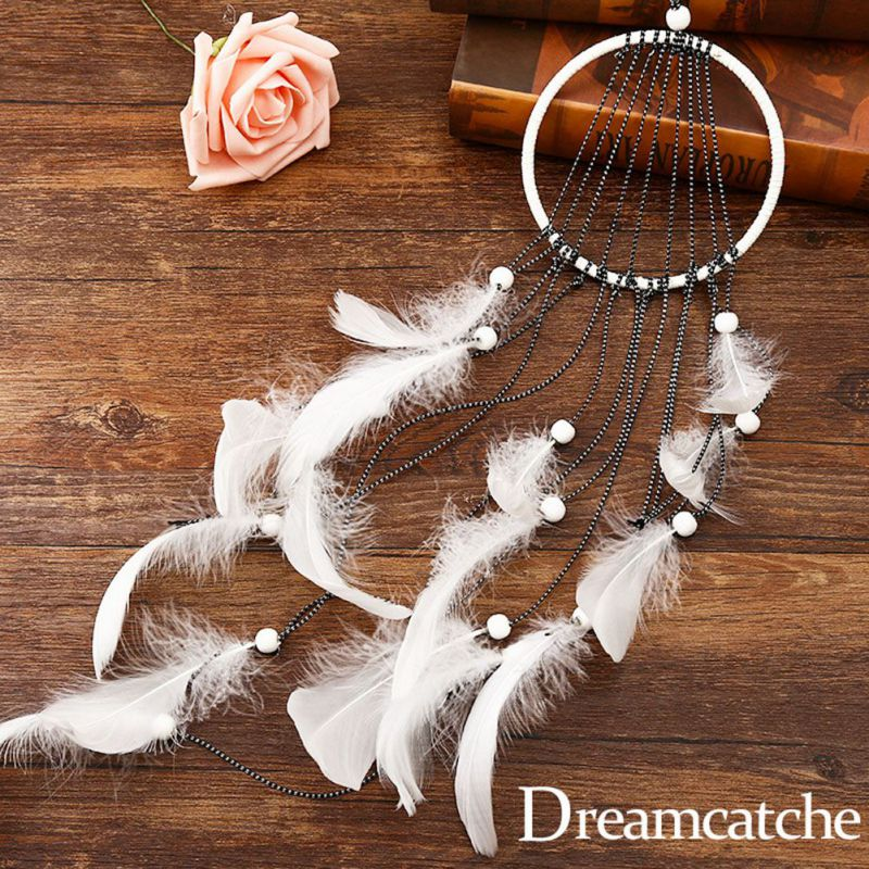 New Wall Hanging Decor Peacock Feather Color Dreamcatcher Wind Chime for Bedroom Decor Sweet Dream Feather Gift for Kids Gifts
