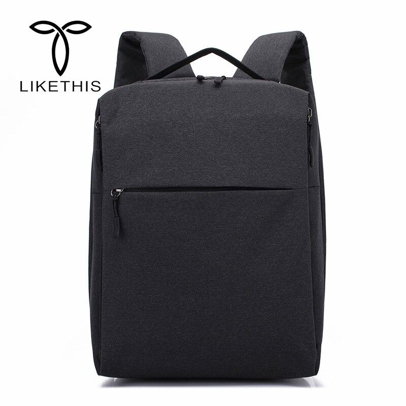 Sacs de livre de mode des hommes pour l'école pour 14 pouces ordinateur portable sacs à dos imperméable Oxford tissu décontracté grande capacité sac à dos