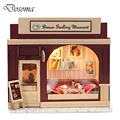 Handmade Doll House Furniture DIY Toys Miniature Dollhouse Wooden Toys Coffee Shop Hand-assembled Model Toys for Children Gift