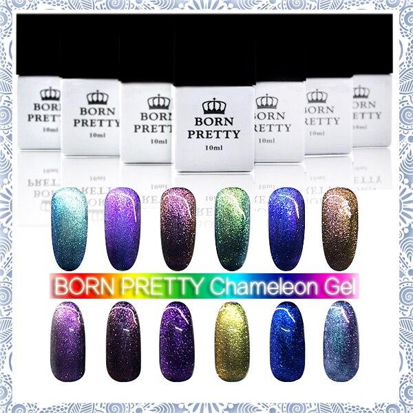 ФОТО 12 bottles/set Born Pretty Chameleon UV Gel Multi Chrome Gel Polish# 23758