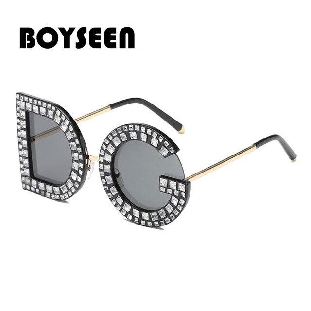 809ad99f16203 DG BOYSEEN 2018 Novos Óculos De Sol Das Mulheres Dos Homens De Alta  qualidade Óculos De
