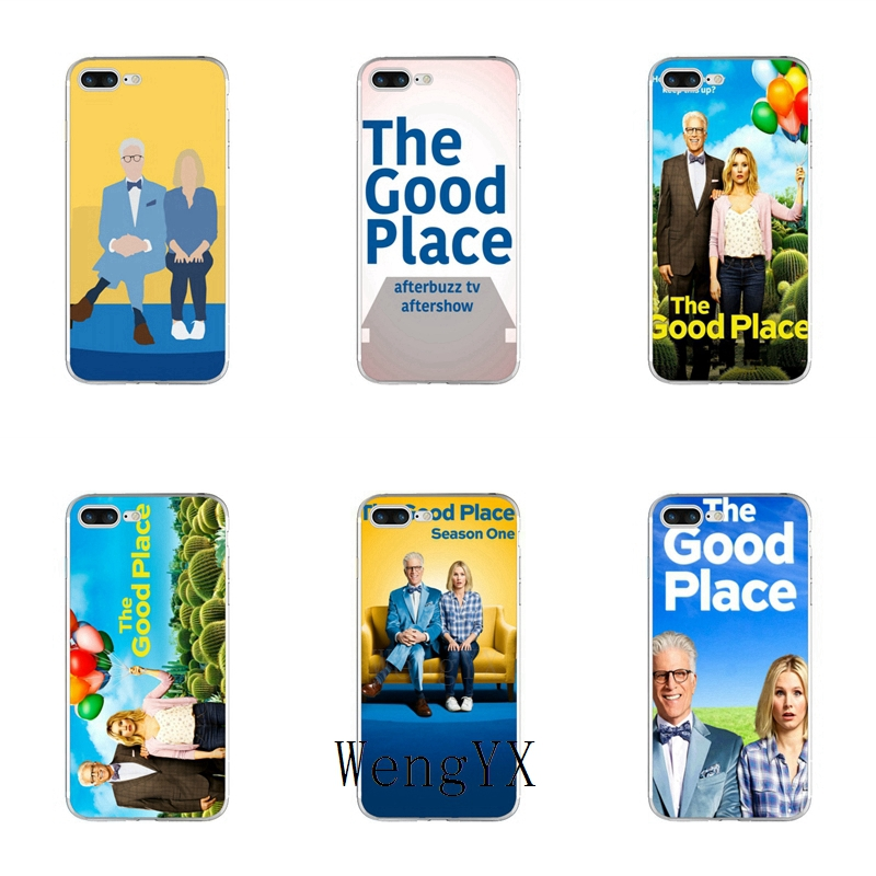 WengYX tv series show The Good Place poster Slim silicone Soft phone case For iPhone X 8 8plus 7 7plus 6 6s plus 5 5s 5c SE 4 4s image