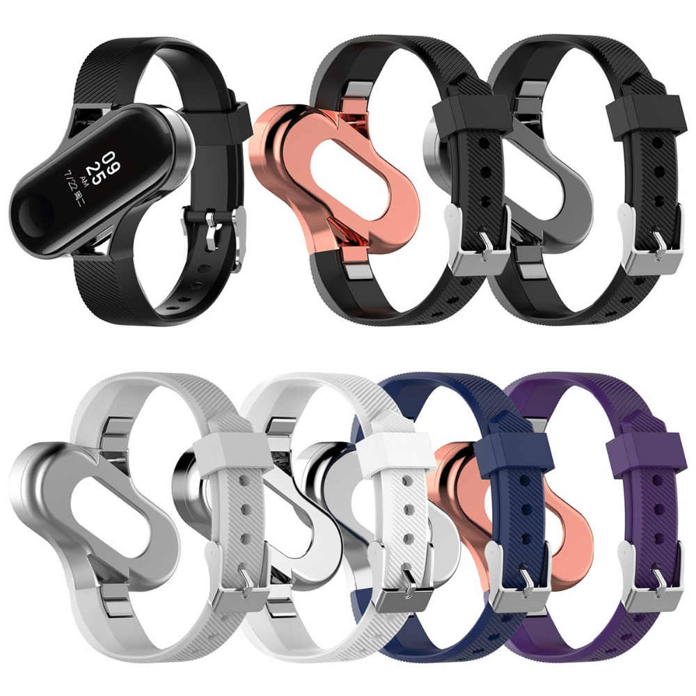 For xiaomi band 3 xiaomi bracelet 3 metal wrist strap stainless steel millet bracelet 3NFC version classic three beads solid