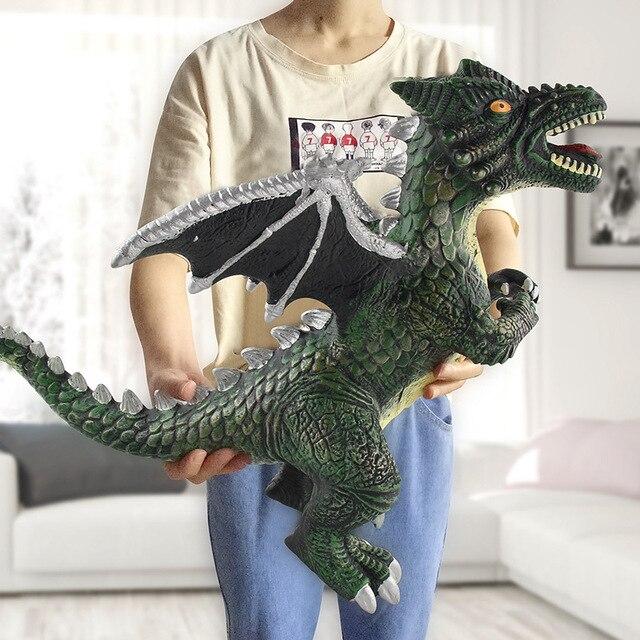 Большой размер динозавр игрушка фигурки тиранозавра Рекс мягкая модель игрушка для мальчиков подарок на день рождения для детей