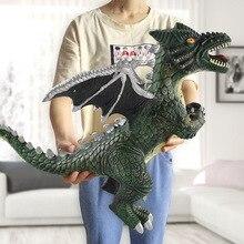 Tamanho grande dinossauro brinquedo de ação, figuras, tiranossauro rex, animal macio, modelo de menino, brinquedo para crianças, presente de aniversário