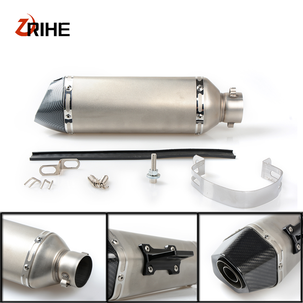 High Quality 36-51mm Universal Motorcycle Moto Bike Exhaust Pipe With Muffler For Suzuki bandit 650 s dl 1000 /dl1000 v-strom цена