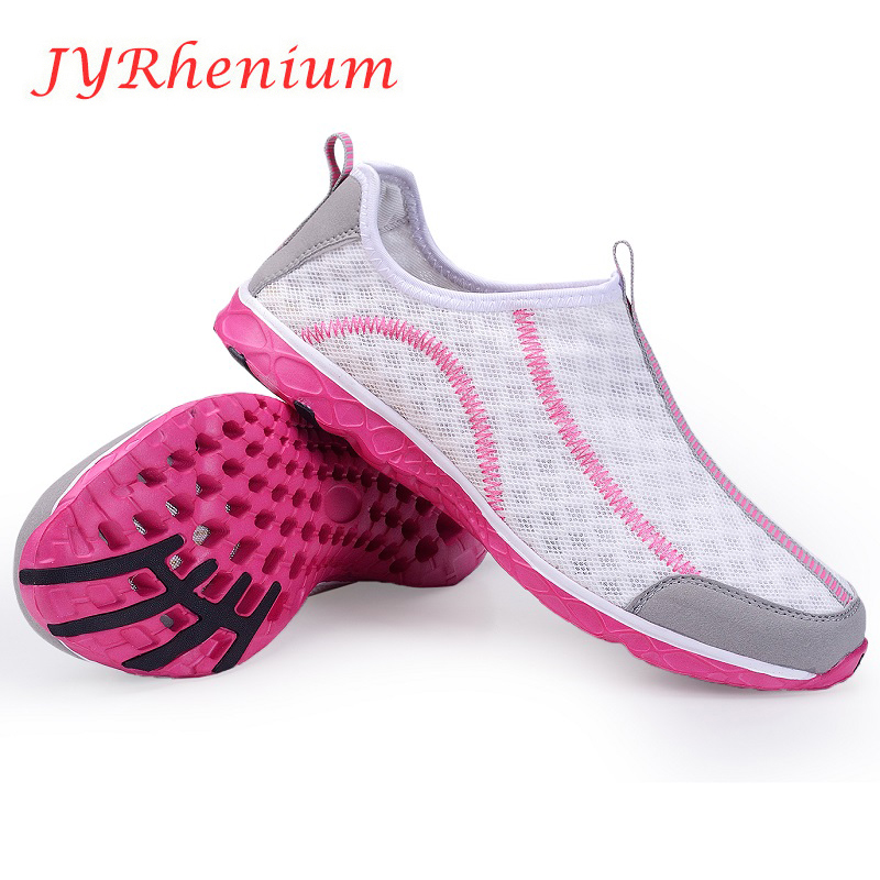 JYRhenium Women Shoes 2017 Summer Loafers Slip on Breathable Mesh Shoes Hight Quality Women Footwear Summer Light Walking Shoes