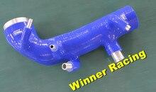 Усиленный силиконовые Индукционная забора воздуха на входе трубы шланг для Subaru WRX STi GRB GH8 Версия 10 2008-2012
