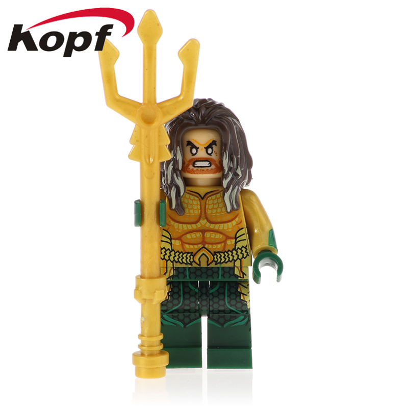 Building Blocks Super Heroes Aquaman Moives Black Arthur Curry Nereus Orm LeaarninAction Figures Moel For Children Toys XH 1103
